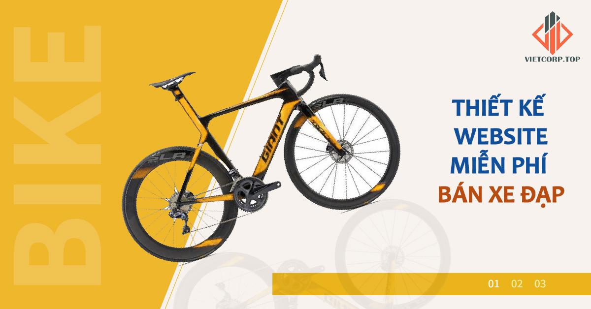 Mẫu website miễn phí bán xe đạp