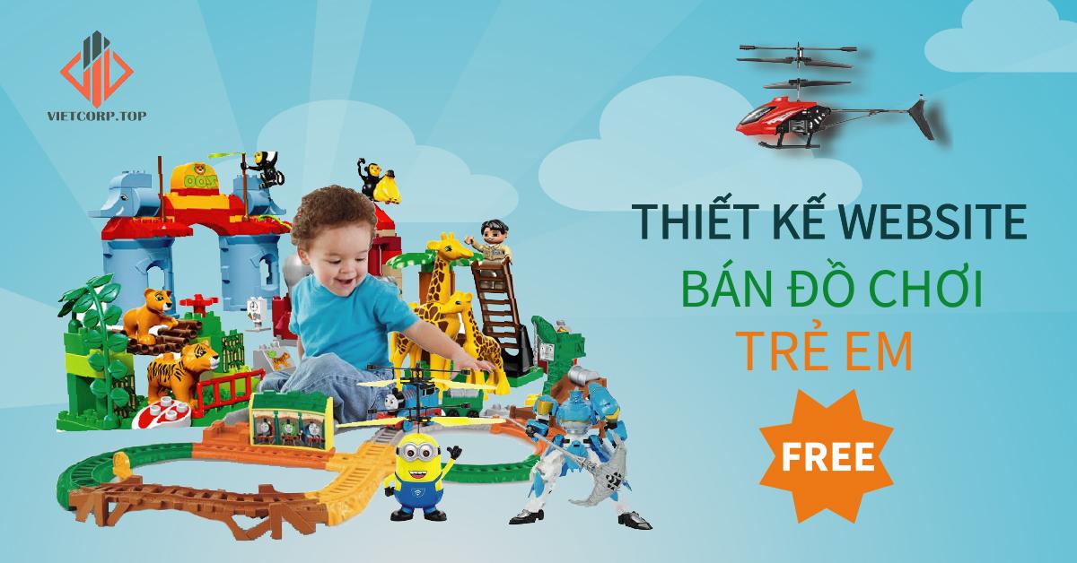 mẫu web miễn phí bán đồ chơi